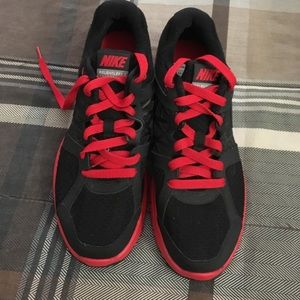 Black and red nikes